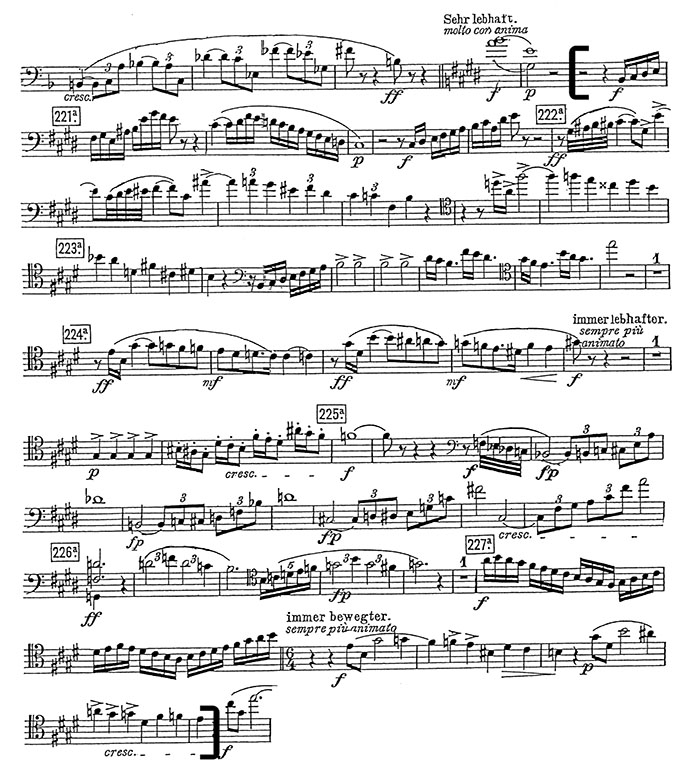 strauss elektra cello excerpt