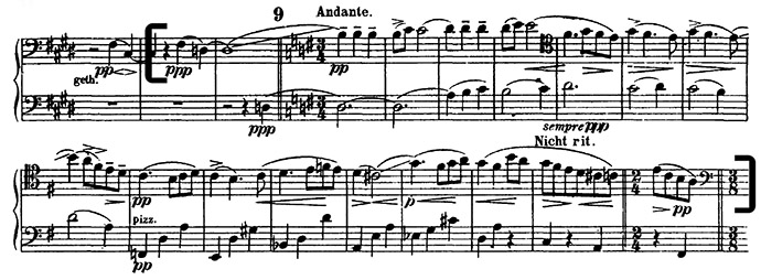 Mahler Symphony 4 orchestral cello excerpt